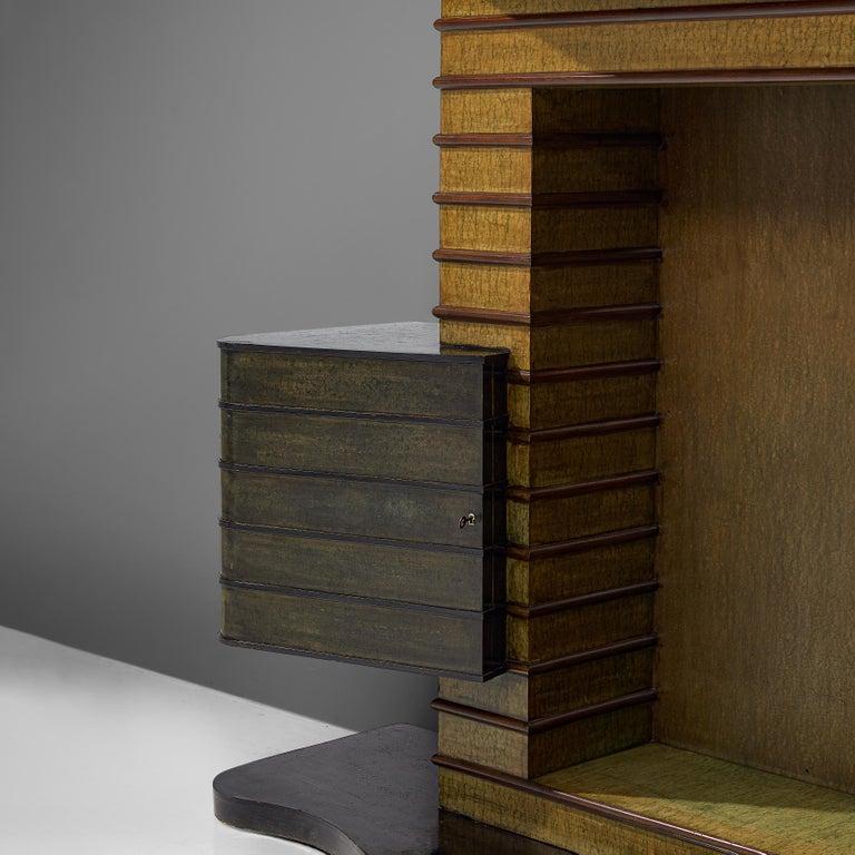 Italian Vittorio Valabrega Art Deco Bar Cabinet, 1930s For Sale