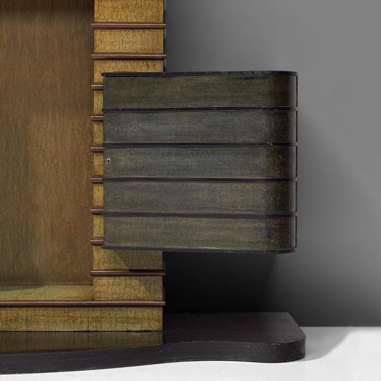 Mid-20th Century Vittorio Valabrega Art Deco Bar Cabinet, 1930s For Sale