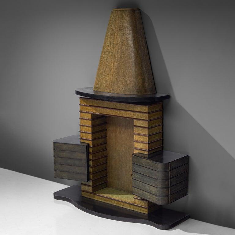Wood Vittorio Valabrega Art Deco Bar Cabinet, 1930s For Sale