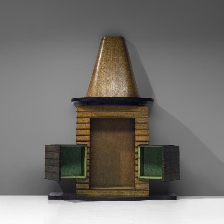 Vittorio Valabrega Art Deco Bar Cabinet, 1930s For Sale 2