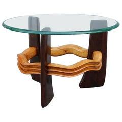 Vittorio Valabrega Art Deco Futurist Coffee Table 1930 Maple and Walnut Italian