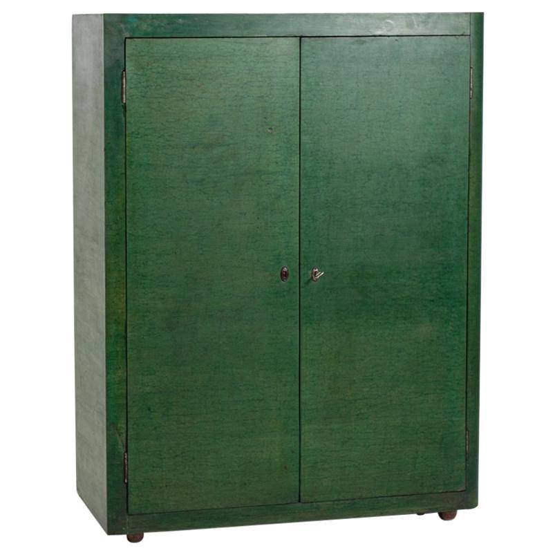 Vittorio Valabrega Cabinet Green Wood, 1950s