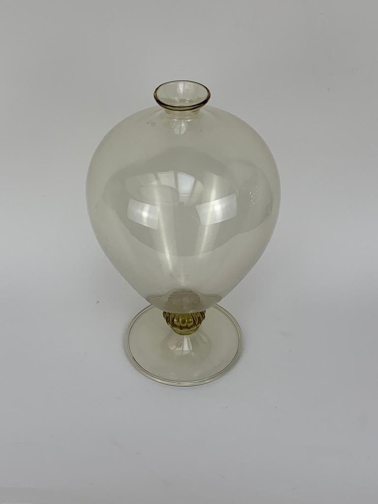 Italian Vittorio Zecchin for Venini Art Deco Blown Murano Glass
