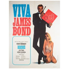 Viva James Bond 1970 Goldfinger French Moyenne Film Poster, Thos & Bour
