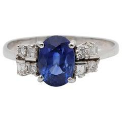 Vivacious 2.10 Carat Ceylon Sapphire Diamond Ring