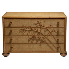 Vivai del Sud Bamboo Chest of Drawers, Italy, 1970s