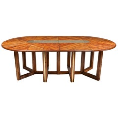 Vivai del Sud Style Adjustable Dining Table in Rattan