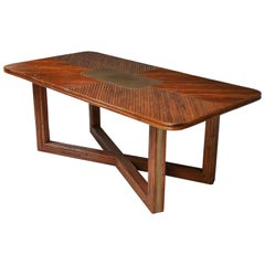Vivai Del Sud Style Rectangular Dining Table in Rattan