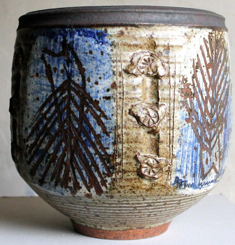 Brutalist Viveka and Otto Heino Large Hand Thrown Ceramic Bowl