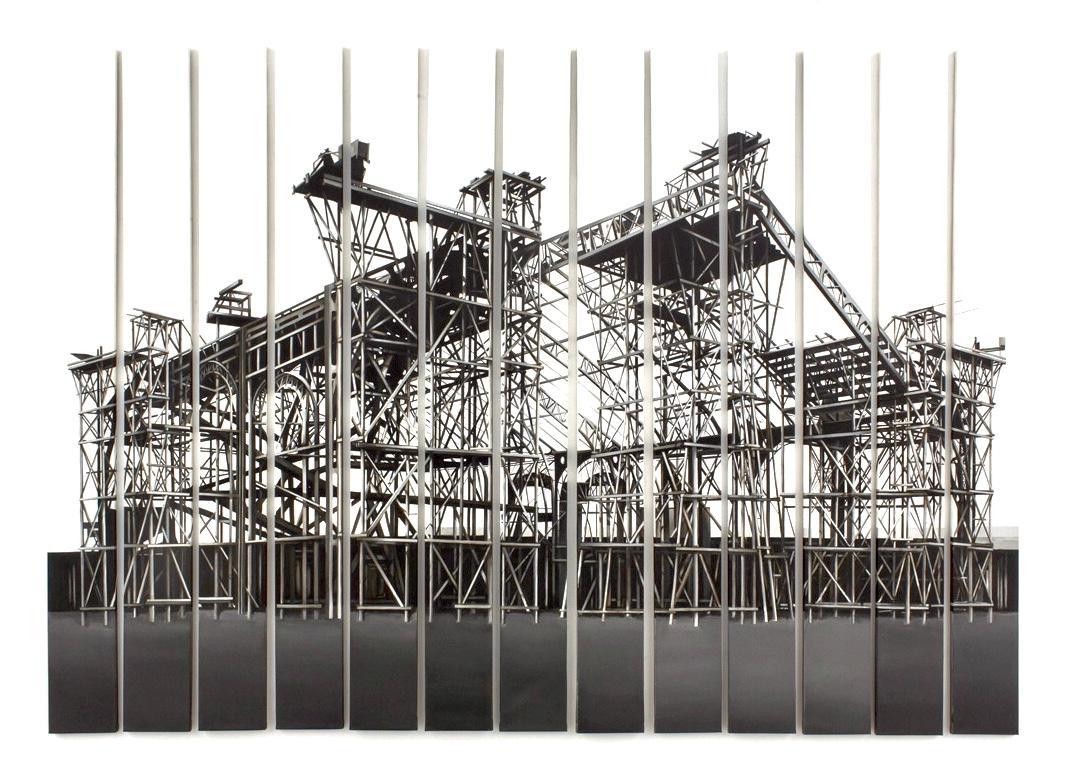 """""""Palais des Machines 1"""", 13 pieces, Canvas, Painting"""