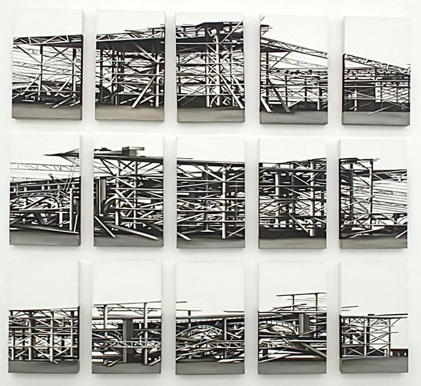 """""""Palais des Machines"""", 15 pieces, 2011, Canvas, Acrylic Paint, Painting"""