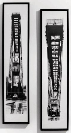 """Puente Sur 1 y 2"", 2006, Canvas, Acrylic Paint, Abstract, Photorealist Painting"
