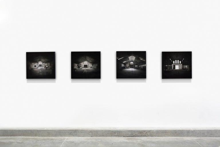 """""""Serie de Saguas 2"""", 2008, Canvas, Acrylic Paint, Painting - Black Figurative Painting by Viviana Zargón"""