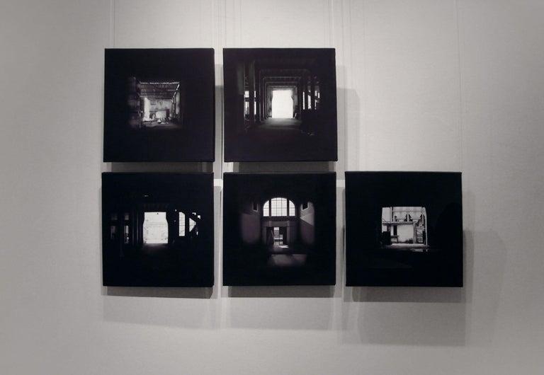"""""""Serie de Saguas 3"""", Canvas, Painting  - Black Landscape Painting by Viviana Zargón"""
