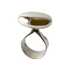Vivianna Torun for Georg Jensen Sterling Silver Danish Modernist Ring