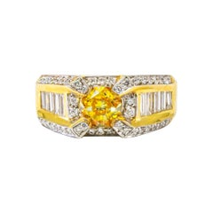 Vivid Canary Diamond Ring
