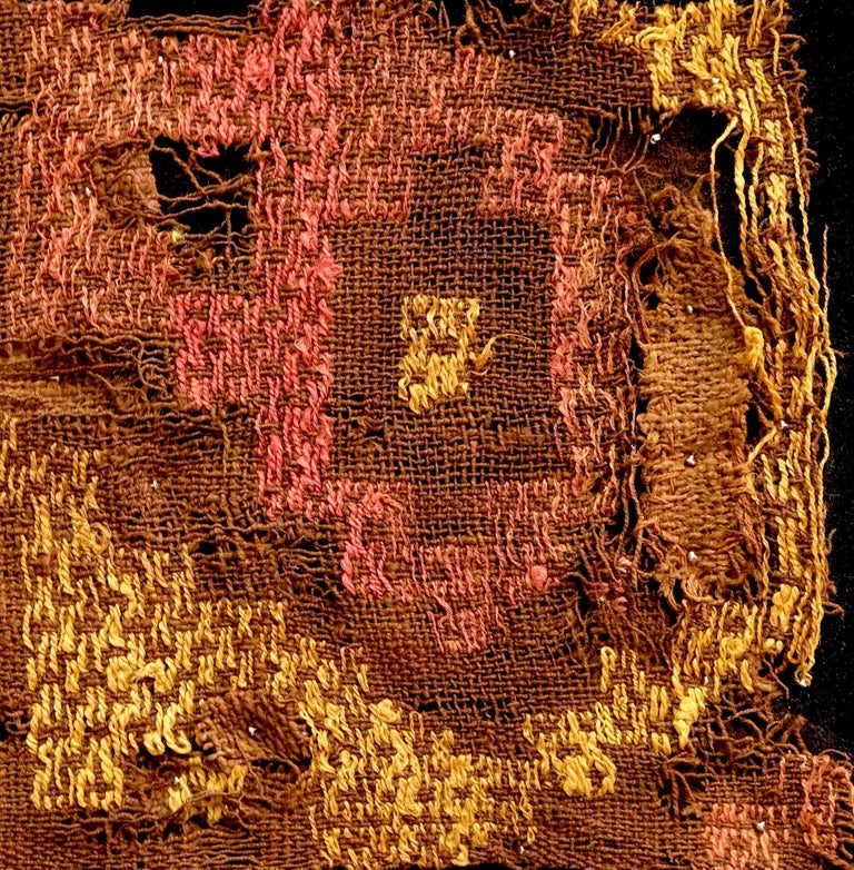 18th Century and Earlier Vivid Chimu Pre-Columbian Textile, Peru, circa 1100-1400 AD, Ex Ferdinand Anton For Sale