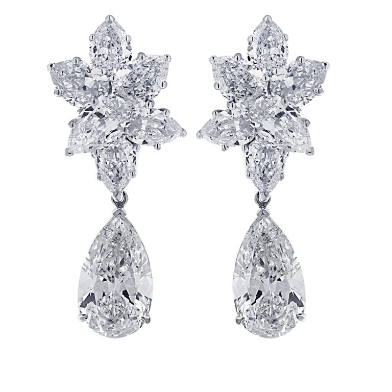 Contemporary Vivid Diamonds 10.46 Carat Diamond Day and Night Earrings For Sale