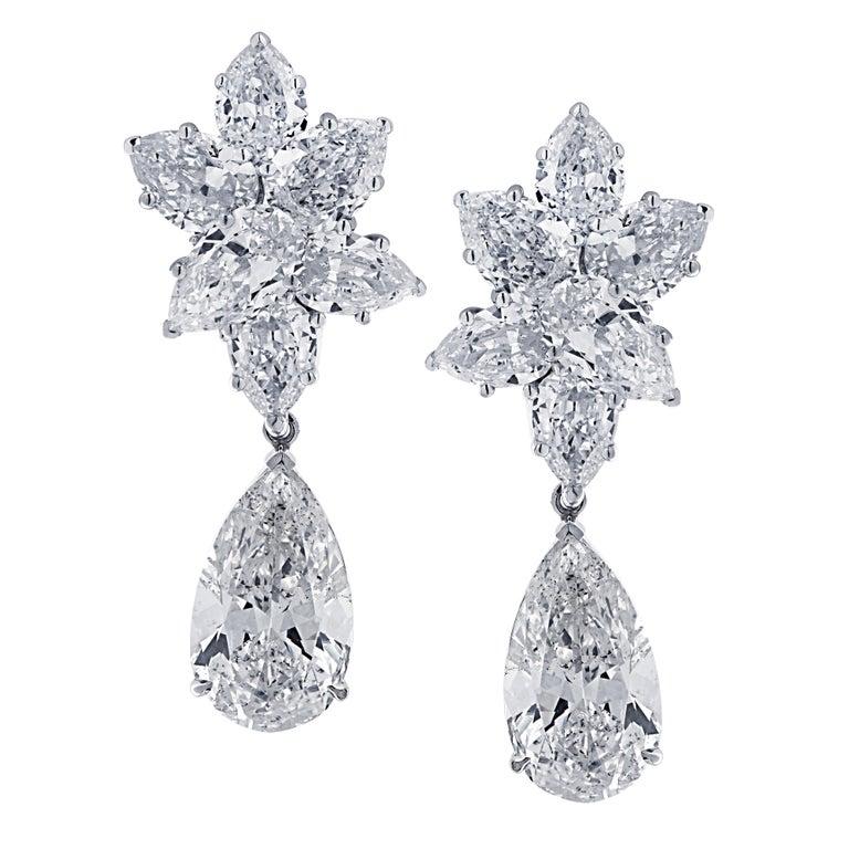 Vivid Diamonds 10.46 Carat Diamond Day and Night Earrings For Sale
