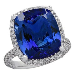 Vivid Diamonds 10.66 Carat Tanzanite Ring