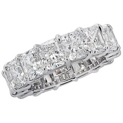 Vivid Diamonds 10.73 Carat Radiant Cut Diamond Eternity Band