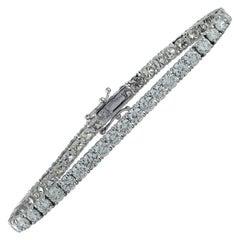 Vivid Diamonds 11.14 Carat Straight Line Diamond Tennis Bracelet