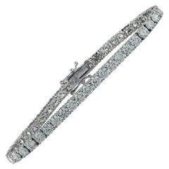 Vivid Diamonds 11.17 Carat Straight Line Diamond Tennis Bracelet