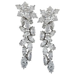 Vivid Diamonds 14 Carat Diamond Dangle Earrings