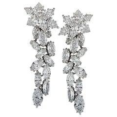 Vivid Diamonds 14 Carat Diamond Dangle Earrings