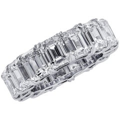 Vivid Diamonds 15.23 Carat Emerald Cut Diamond Eternity Band