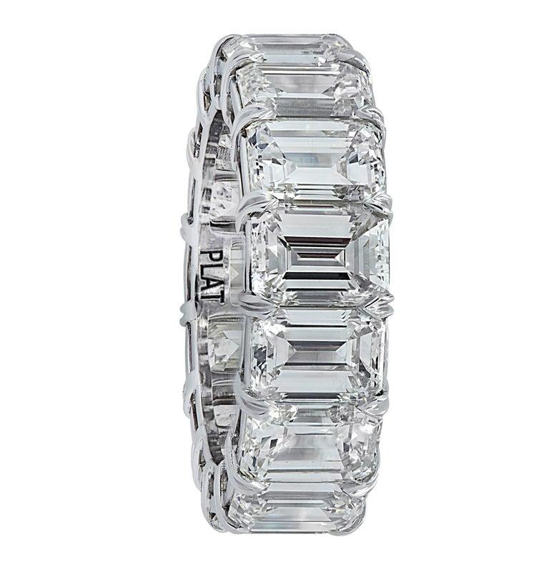 Modern Vivid Diamonds 15.57 Carat Diamond Eternity Band  For Sale