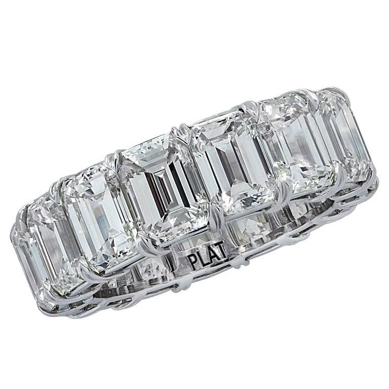 Vivid Diamonds 15.57 Carat Diamond Eternity Band  For Sale