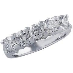 Vivid Diamonds 1.8 Carat Diamond Five-Stone Band