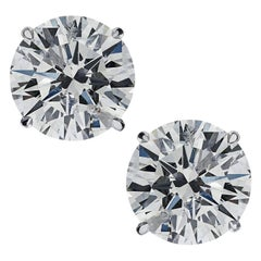 Vivid Diamonds 2.21 Carat Diamond Solitaire Stud Earrings