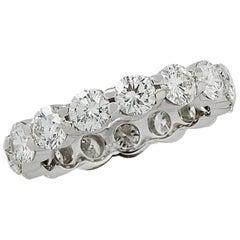 Vivid Diamonds 2.7 Carat Diamond Eternity Band