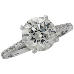 Vivid Diamonds 2.72 Carat Diamond Engagement Ring