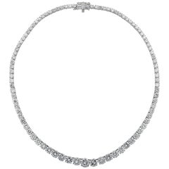 Vivid Diamonds 29.26 Carat Diamond Riviere Necklace