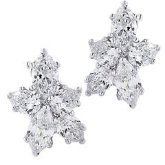 Vivid Diamonds 3.64 Carat Diamond Cluster Earrings