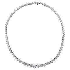 Vivid Diamonds 37.03 Carat Diamond Riviera Necklace