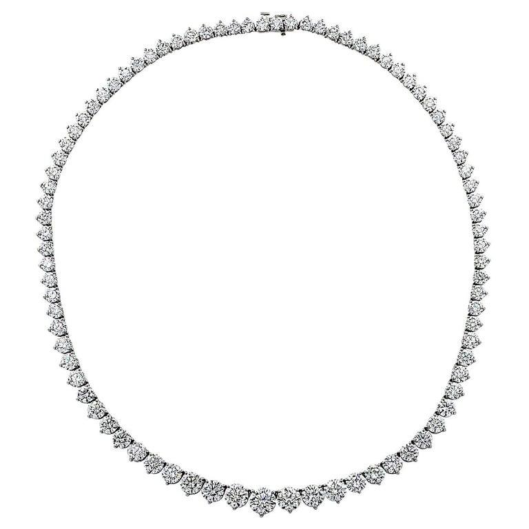 37.03-carat diamond riviera necklace, 2020