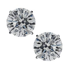 Vivid Diamonds 4.04 Carat Diamond Solitaire Stud Earrings