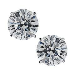 Vivid Diamonds 4.44 Carat Diamond Solitaire Stud Earrings