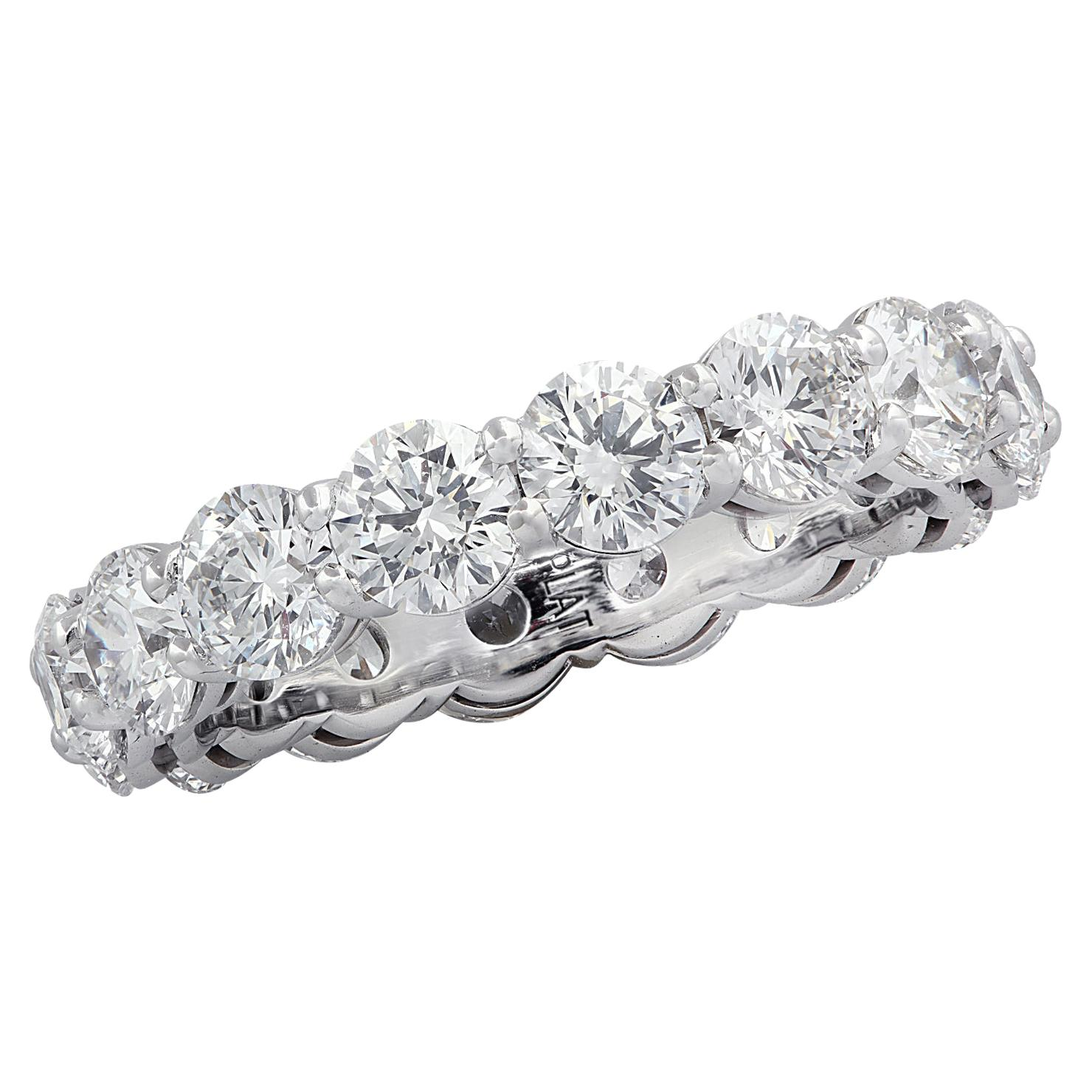 Vivid Diamonds 4.51 Carat Diamond Eternity Band