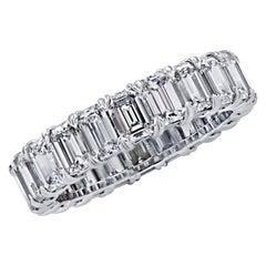 Vivid Diamonds 4.55 Carat Emerald Cut Diamond Eternity Band