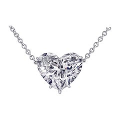 Vivid Diamonds 5.01 Carat Heart Shaped Diamond Necklace
