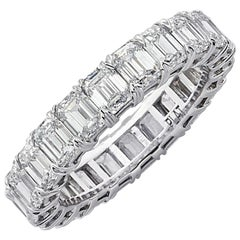Vivid Diamonds 5.12 Carat Emerald Cut Diamond Eternity Band