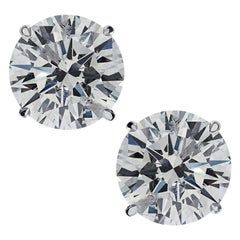 Vivid Diamonds 5.41 Carat Diamond Solitaire Stud Earrings