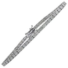 Vivid Diamonds 5.71 Carat Diamond Tennis Bracelet