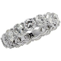 Vivid Diamonds 5.80 Carat Diamond Eternity Band