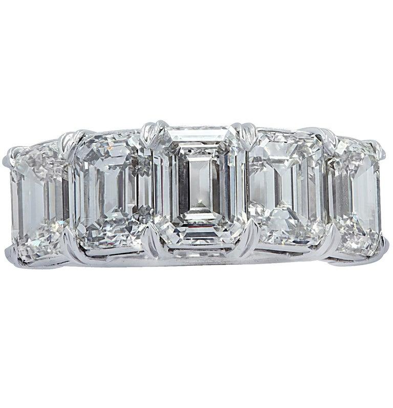 Women's Vivid Diamonds 6.02 Carat Five Stone Diamond Wedding Band For Sale